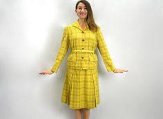 Summer SALE 60s Pendleton Suit Yellow Plaid by GlennasVintageShop