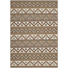 Safavieh Indoor/ Outdoor Veranda Cream/ Brown Rug (8' x 11'2) | Overstock.com SALE - $209.94