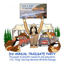 Maine Dinner and Puffins for Trailgate Party to benefit research and education at #DingDarlingRefuge on #Sanibel