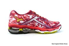 Mizuno women's Wave Creation 15 running shoes sneakers size 6 Cerise Lime Coral #Mizuno #RunningCrossTraining