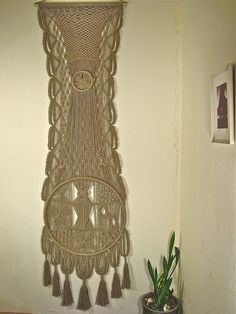 Macrame Wall Hanging Dreams of the Artist woven of by MacrameIdeas