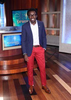 Levi's trouser, Gant blazer and J.Crew shirt. hubby wants red pants