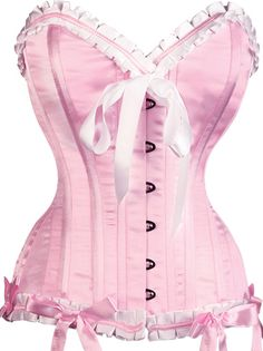 Add some perkiness with a pink corset from The Violet Vixen. Feel like a pert princess in one of these divine pink corset tops. Burlesque Corset, Pink Corset, White Corset, Sexy Corset, Overbust Corset, Corset Tops, Gothic Corset, Rose Bonbon, Boned Corsets