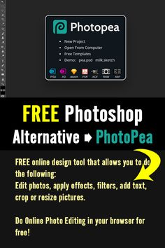 Online Photo Editor lets you edit photos, apply effects, filters, add text, crop or resize pictures. Do Online Photo Editing in your browser for free! Check it out! #photoshop #freephotoshop #psd #onlinegraphics #graphiceditor #graphicdesign #designtool #editphotos #effects #editpictures T Shirt Design Template, Online Photo Editing, Edit Photos, Free Photoshop, Editing Pictures, Tool Design, Check It Out, Photo Editor, Funny Tshirts