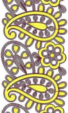 Wide Farasha Border Embroidery Design