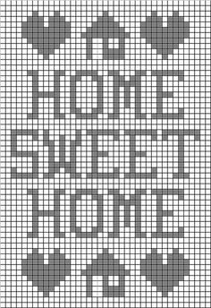 Home Sweet Home Filet Free Crochet Pattern from the Filet crochet Free Crochet Patterns Category and Knit Patterns at Craft Freely Crochet Patterns Filet, C2c Crochet, Tapestry Crochet, Crochet Home, Knitting Patterns, Cross Stitch Charts, Cross Stitch Designs, Cross Stitch Embroidery, Cross Stitch Patterns
