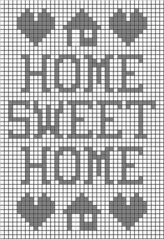 Home Sweet Home Filet Crochet Pattern