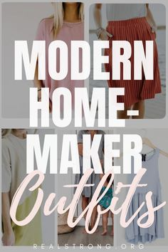 If you are a homemaker looking for a modern wardrobe upgrade, here is the inspiration you've been looking for!These clothes are the best modern homemaker outfits for sahm. If you are looking for stylish outfits for sahm or looking for Christian sahm outfits, these are the best ideas for your modern homemaker wardrobe!