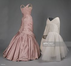 Evening dress, Tree, 1957 (with reproduction of skirt understructure). Silk taffeta by Charles James. Known as the 'Tree' gown, numerous versions of this dress were created in various colors between 1955-1958.