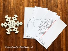 Le schede delle simmetrie sull'inverno Cards, Winter Time, Hama, Maps, Playing Cards