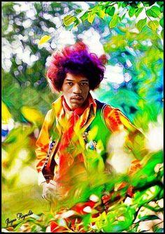 Jimi Hendrix Photo via Jayne Reynolds