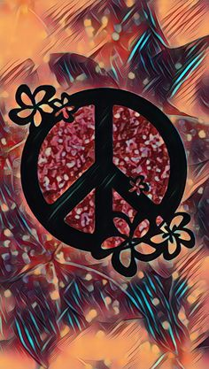 I love you ashlie and i miss you so much! ☮ ️❤ ️mom painting ideas on canva Hippie Peace, Hippie Love, Phone Backgrounds, Iphone Wallpaper, Give Peace A Chance, Peace Art, Missing You So Much, World Peace, Symbolic Tattoos