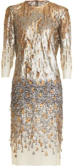 "PRABAL GARUNG Beaded Feather Dress   ""STUNNING for a Premiere date or that special date  dressmesweetiedarling"