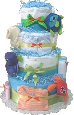 """Diaper """"cake"""" -- seriously? I guess I'm just not into the cutesy-poo baby shower shit. (Get it? Huh? D'ya get it?)"""