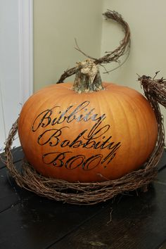 Cute pumpkin for porch decorations - from 365 Days to Simplicity