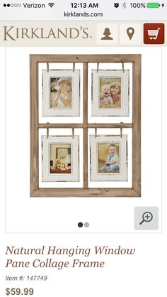 give your favorite moments a rustic touch with our natural hanging window pane collage frame youll adore how its whimiscal frames make your photos pop - Window Collage Frame