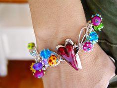 Chain of Hearts Bracelet by Cassie Donlen $115