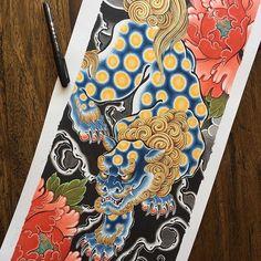 I still have some prints of this Shi shi and peonies. 57cm x 25cm, 320gsm glicée AU$60 + postage : mail@alexrusty.com #australiantattooistsguild #tattoo #lighthousetattoo #lighthousetattoostudio #lighthousetattoosydney #sydneytattoo #sydneytattooartist #tattooartistsydney #japanesetattoo #japanesetattoos #irezumi #wabori #alexrusty #shishi