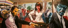 Pulp Fiction Poster Print Panorama 79 x 33 cm / by WorldOfPoster