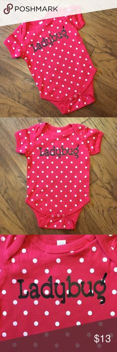 Ladybug Infant Bodysuit/Onesie 100% cotton onesie/Bodysuit that fits true to size. Rabbit Skins One Pieces Bodysuits