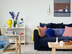 Isroser FR1376 maling - Klar, kjølende blå - | Fargerike Small Spaces, Love Seat, Ikea, Couch, Interior Design, Furniture, Home Decor, Decorations, Pop
