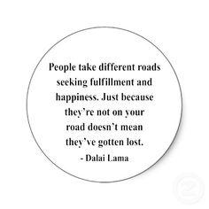 Aunque estemos caminando por caminos diferentes, tal vez nos encontremos al llegar a nuestro destino....