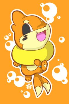Bubbly Buizel by crayon-chewer.deviantart.com on @deviantART  Woah this is so cool!