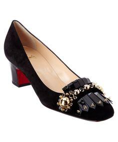 CHRISTIAN LOUBOUTIN Christian Louboutin Oaxacana 45 Embellished Suede Pump'. #christianlouboutin #shoes #pumps & high heels