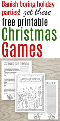 Free Printable Christmas Games for Parties and Families Grab these free printable Christmas games! Printable Christmas games for groups, Christmas games for family, Christmas games for parties, and more! Christmas Party Games For Groups, Christmas Riddles, Christmas Trivia Games, Fun Christmas Party Games, Xmas Games, Printable Christmas Games, Thanksgiving Games For Kids, Holiday Games, Christmas Words
