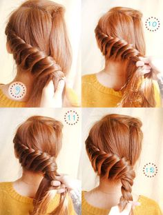 Swirled up hairstyle