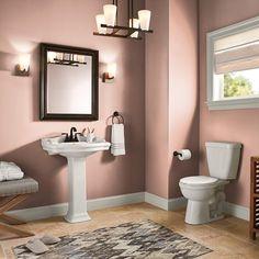 Exterior Paint, Interior And Exterior, Interior Design, Home Depot, Behr Marquee Paint, Behr Premium Plus, Cabinet Trim, Bathroom Paint Colors, Mauve Bathroom