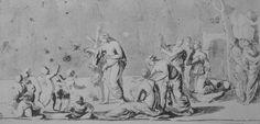 Driope - Titolo dell'opera: Driope Autore: Nicolas Poussin Datazione: 1620-1623 Collocazione: Windsor Castle, Royal Library. Già nella Coll. Massimi; acquistato probabilmente a Roma dal Dr. Meade, nel 1695-1696. Committenza: Giambattista Marino Tipologia: disegno Tecnica: penna e bistro con acquerello grigio, 157x333 mm Soggetto principale: Driope Soggetto secondario: Personaggi: Driope in forma di albero di loto, Anfisso, Iole, ninfa dello stagno (?), putti, ancelle, figure maschili su