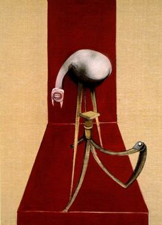 FRANCIS BACON/ Second Version of Triptych 1944 oil on canvas/Centre