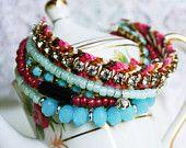 Layered Lovelies - Bohemian Style Multiple Strand Friendship Bracelet
