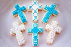 Baptism, christening communion cookies