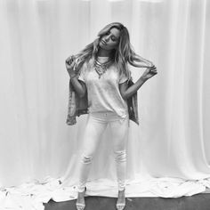 Always been a tee n' jeans girl. Ashley Tisdale, Celebs, Celebrities, Girls Jeans, What I Wore, White Jeans, Celebrity Style, Leather Pants, Instagram Posts