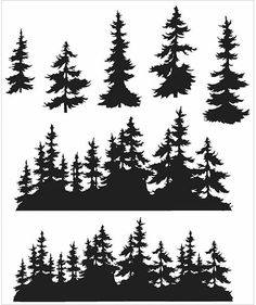 "TIM HOLTZ: Treeline ( 7"" x 8 1/2"" Unmounted Rubber Stamp Set) This package contains Tree Line: seven deeply etched, red rubber, cling mount image stamps. *FREE SHIPPING ON THIS ITEM*"