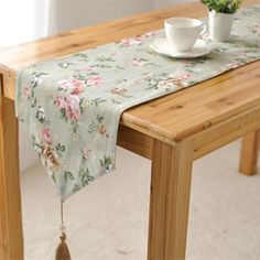 ART OF WOOD American country pastoral style Chinese restaurant and elegant bed end flag table runner tableware flowers