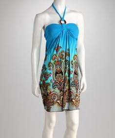 Take a look at this Turquoise Paisley Halter Dress by Raya Sun on #zulily today! $13.99, regular 22.00