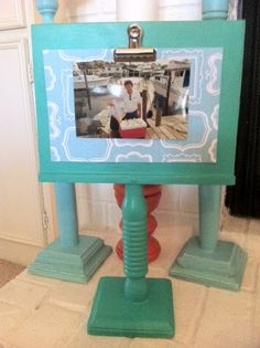 crafts made of spindles | Visit Craft Dictator to learn more about these pedestal frames made ...