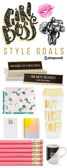 Let everyone at the office know you're kinda a big deal with these chic Girl Boss style must-haves. Shop the cheeky decor and fashion collection now!