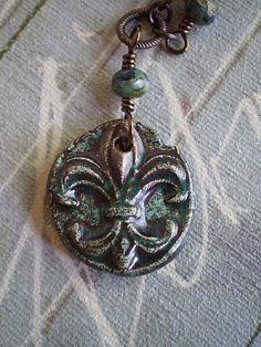 Fluer de Lis Necklace by the Junquerie.
