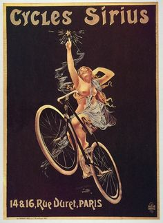 An advertisement for Cycles Sirius in Paris