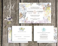 The Sweet Succulent Wedding Suite, features beautiful hand painted subtle succulents and cacti. With script and text detail throughout.