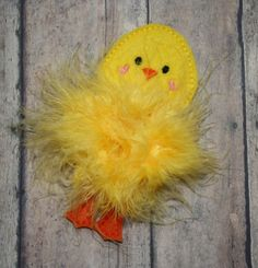 Hey, I found this really awesome Etsy listing at https://www.etsy.com/listing/222005614/chick-marabou-puff-felties-embroidery