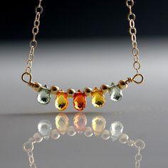 Made to Order 14k Solid Gold Sapphire by JillMcCrystalJewelry, $198.00