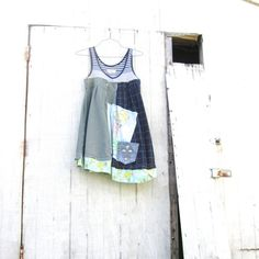 Summer Spring Tinker Bell dress / Upcycled clothing / by CreoleSha, $87.99