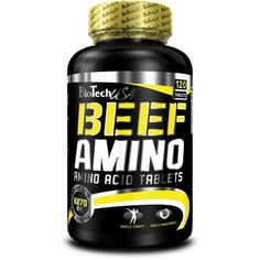 Sports Supplements Biotech Usa Beef Amino 120 Tablets Lactose Free Amino Fomula With Beef Isolate Branch Chain Amino Acids, Nutrition Sportive, Acide Aminé, Whey Protein Isolate, Bodybuilding Supplements, Lactose Free, Protein Shakes, Vitamins, Beef
