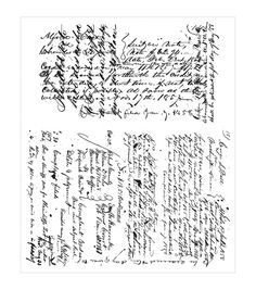 Stampers Anonymous® Tim Holtz Ledger Script Cling Rubber Stamp Set