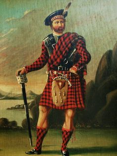 Antique portrait of historical figure, Robert Roy MacGregor (1671-1734). Usually known simply as Rob Roy or alternately Red MacGregor, was a famous Scottish folk hero and outlaw of the early 18th century, who is sometimes known as the Scottish Robin Hood. Of course, there is so much more to his story.....